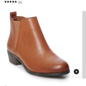 SO hanno cognac ankle boots size 7